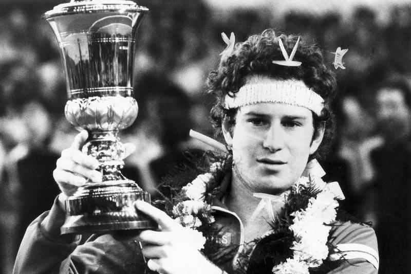 John McEnroe Defending His 1979 Title