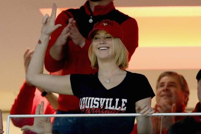 Jennifer Lawrence Loves The University Of Louisville Cardinals