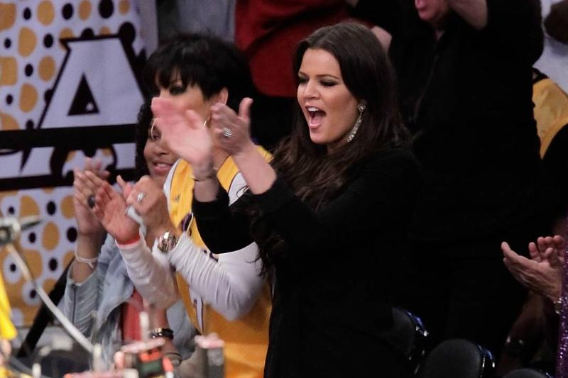Khloe Kardashian Frequently Attends Laker's Games