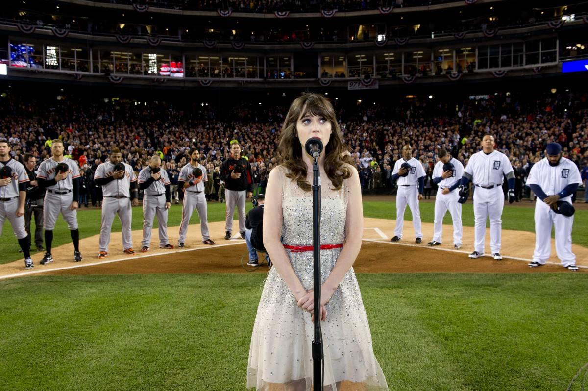 Zooey Deschanel Left Her Heart With The San Fransisco Giants