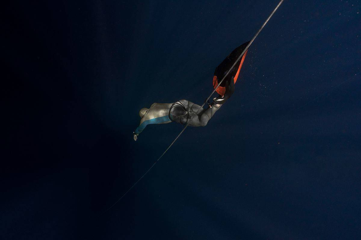attempting a freedive