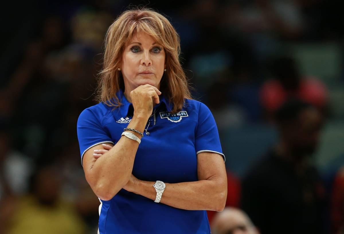 Coach Nancy Lieberman watches the NBA playoffs in 2019.