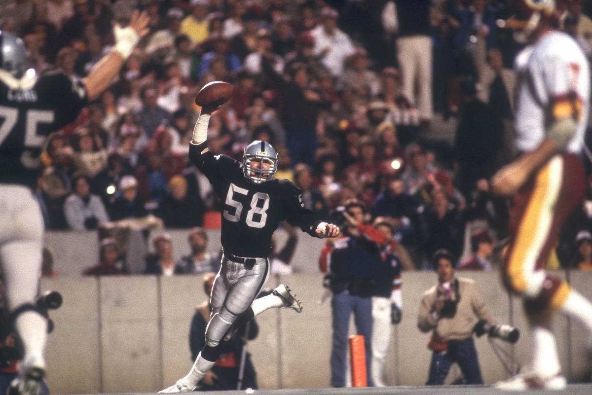 SUPER BOWL XVIII interception for a touchdown