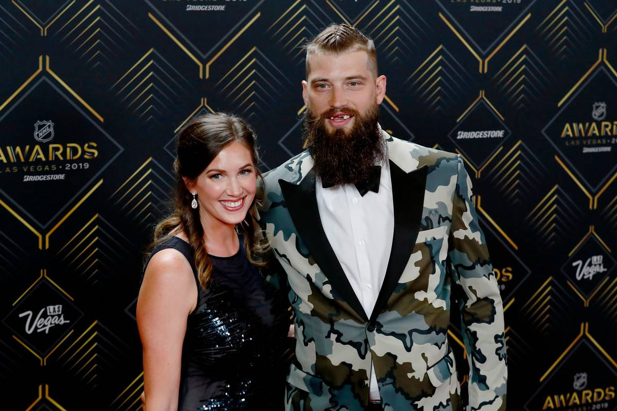 Brent and Susan pose at the 2019 NHL Awards.
