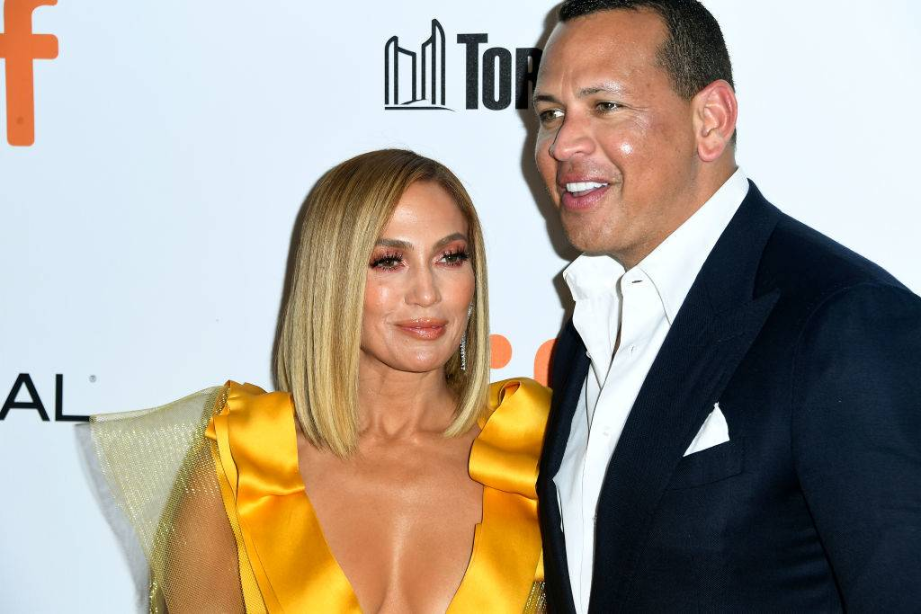 Jennifer Lopez and Alex Rodriguez in fall of 2019