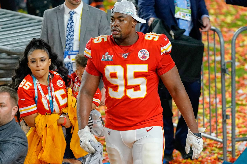 chiefs lineman chris jones and his girlfriend