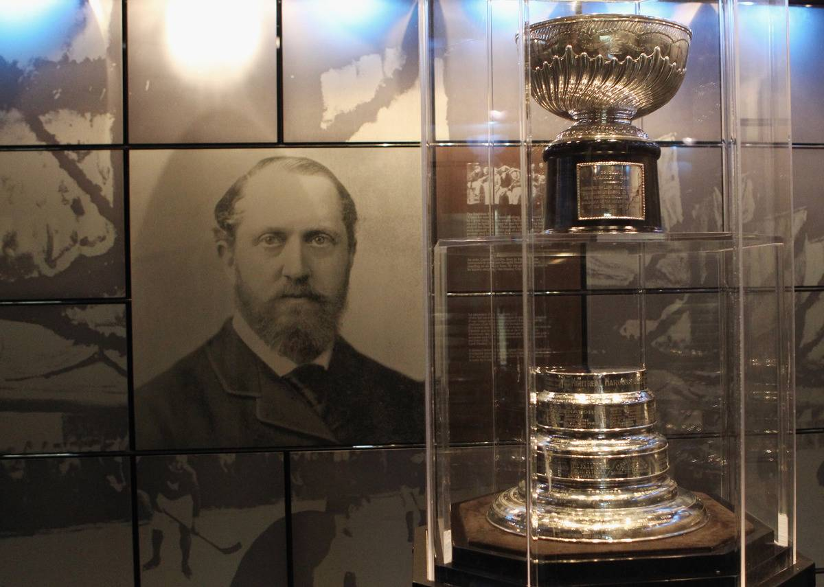 The original Stanley Cup rests in a vault at the Hockey Hall of Fame.