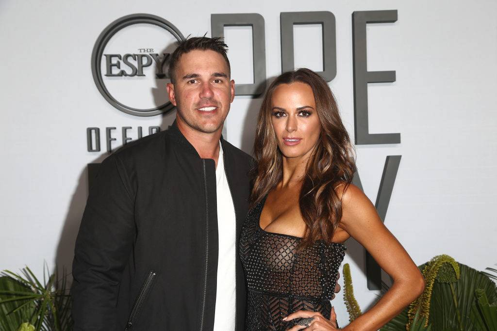 Brooks Koepka and Jena Sims attend the ESPN's The ESPYS Official Pre-Party