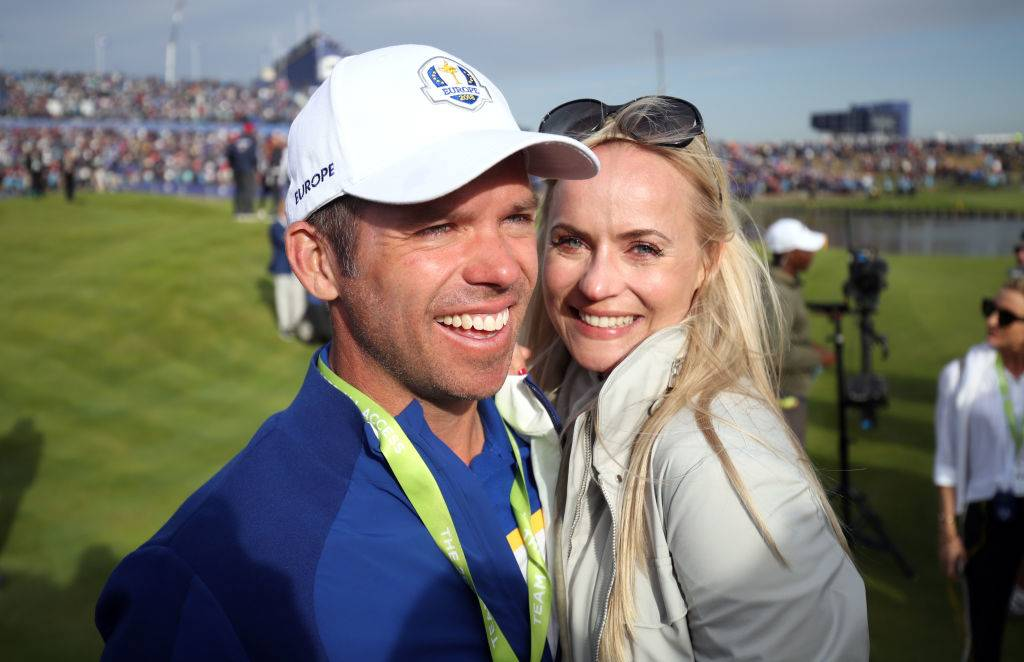 Team Europe's Paul Casey (left) and girlfriend Pollyanna Woodward celebrate after Europe win the Ryder Cup