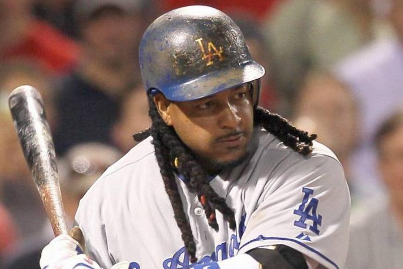 manny ramirez with the los angeles dodgers