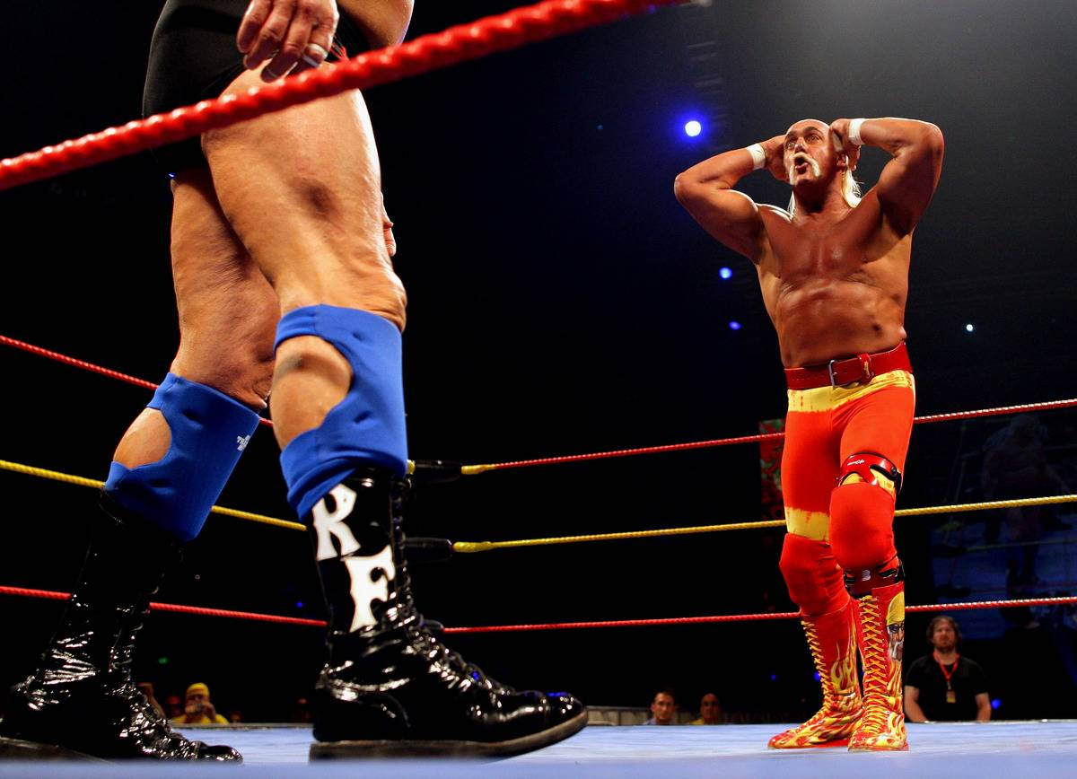 a close up of ric flair's boots