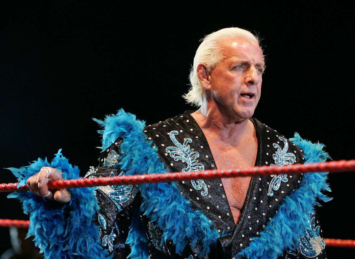 ric flair in the ring for hulk hogan