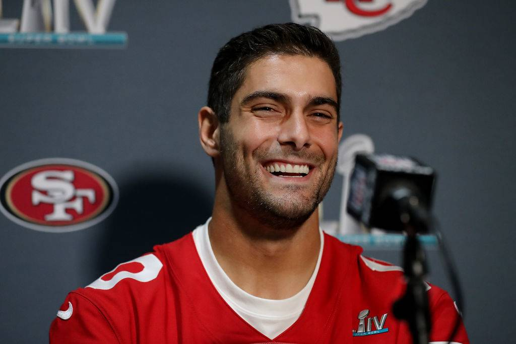 press conference for Jimmy G