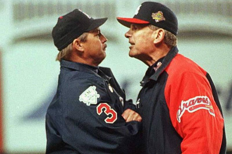 bobby cox ejected during a game