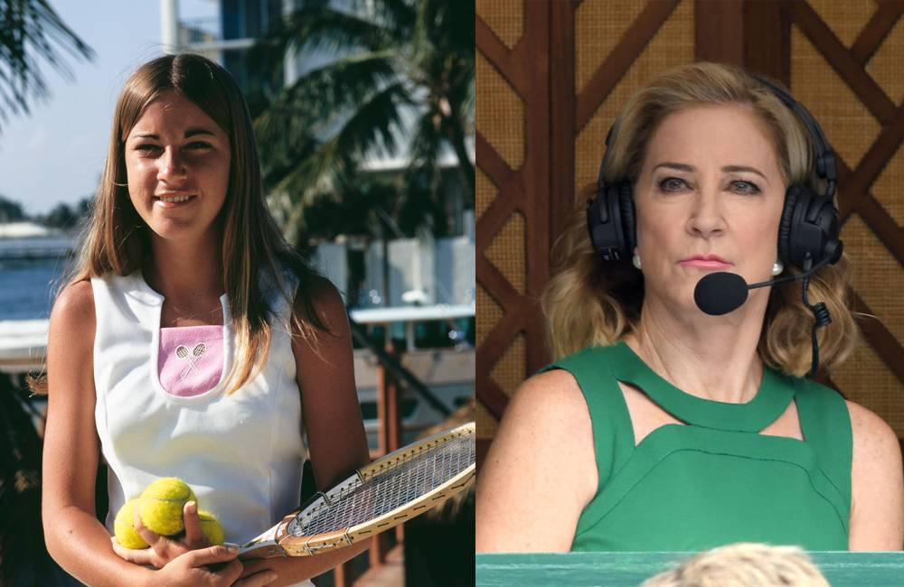 chris evert tennis old and young