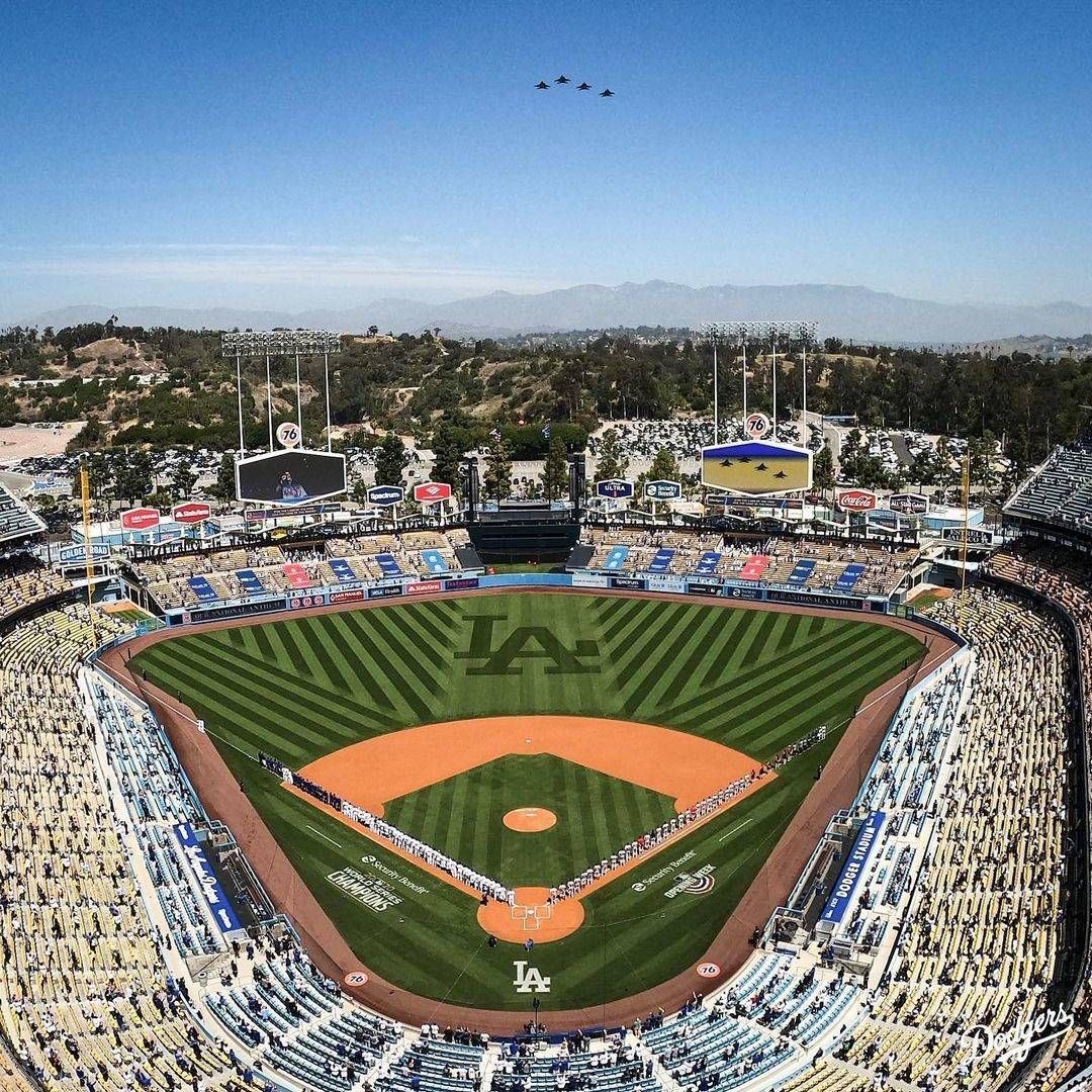 high view of dodger stadium