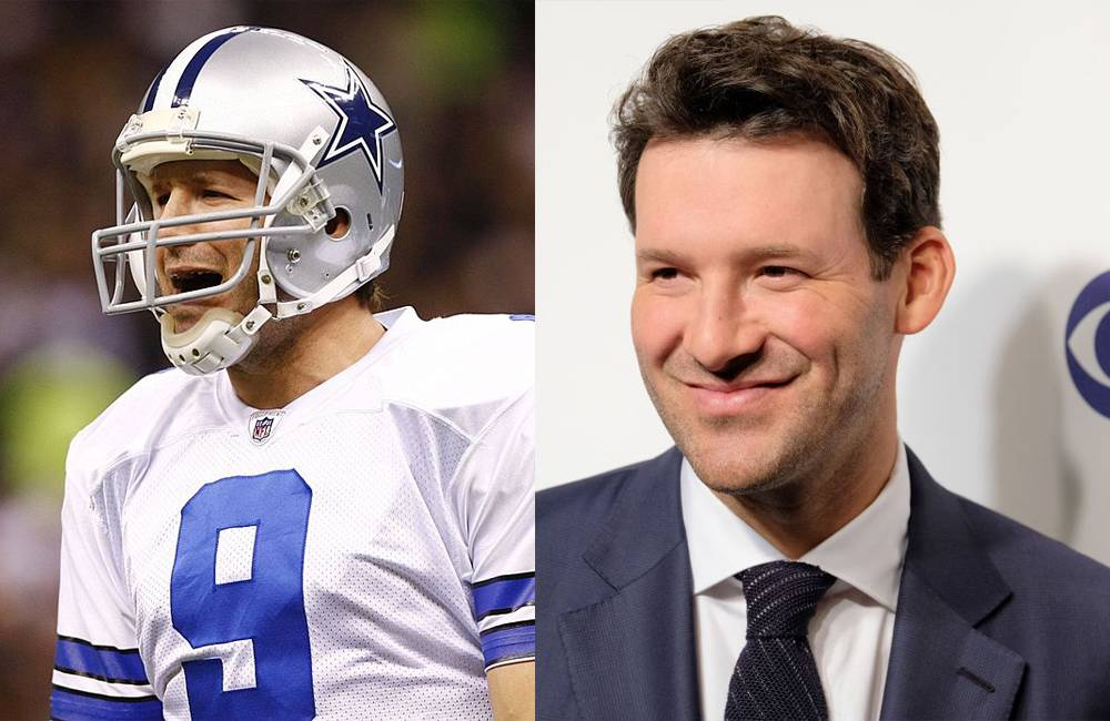 ton romo booth and on the field