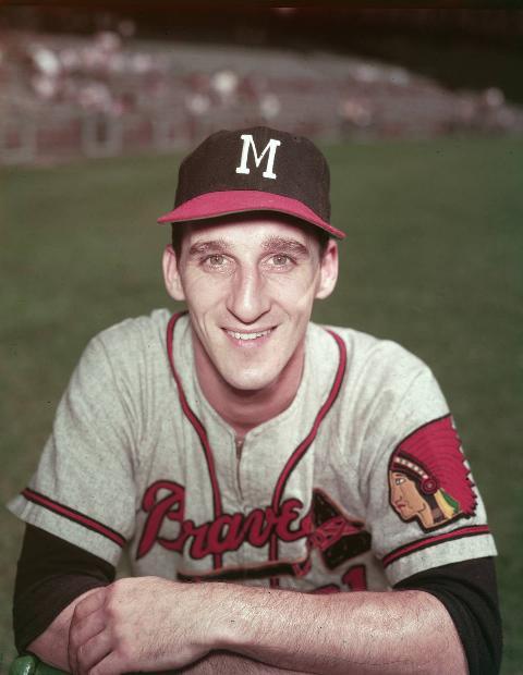 Warren Spahn In Milwaukee Braves Uniform